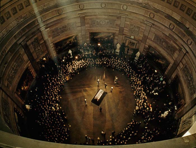 5 - 1963 - JFKs funeral in the Capitol Building
