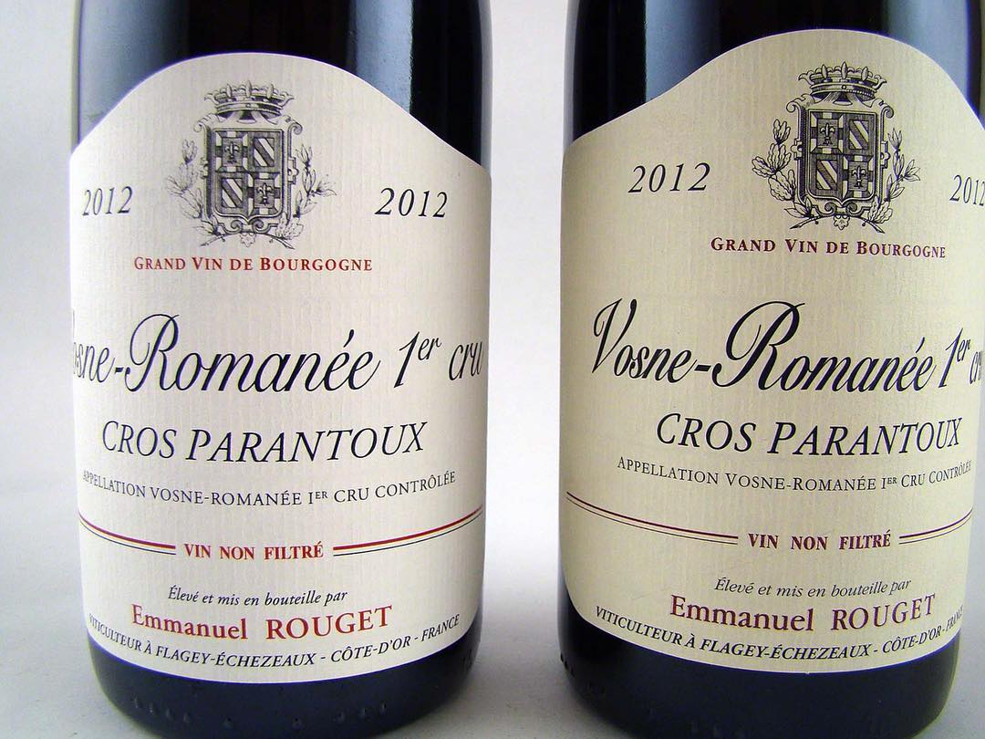 The Wine Wankers post of Emmanuel Rouget Cros Parantoux 2012 label.jpg