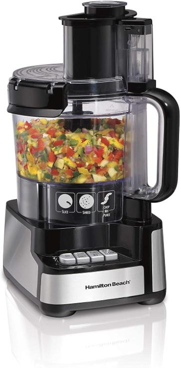 Amazon.com: Hamilton Beach 12-Cup Stack & Snap Food Processor & Vegetable  Chopper, Black (70725A): Kitchen & Dining