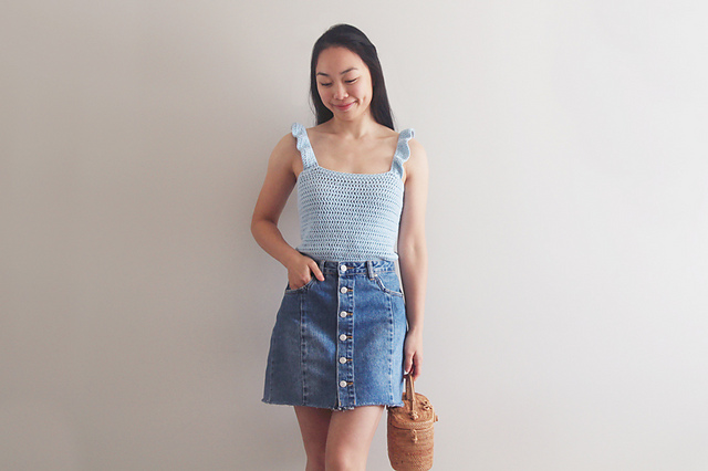 Ava Ruffle Tank Top Crochet Pattern