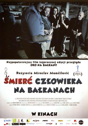 Przód ulotki filmu 'Śmierć Człowieka Na Bałkanach'