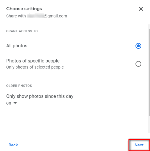 حساب صور Google