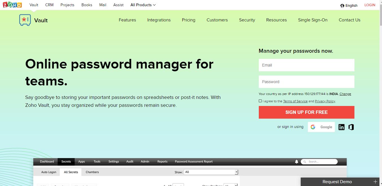 online password manager