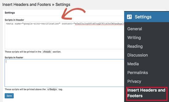 Mã xác minh trang web cho G Suite và Gmail