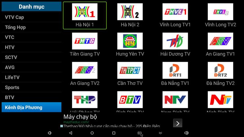flytv ung dung xem truyen hinh tivi online mien phi cho android tv box flytvbox - nhom kenh dia phuong