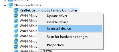 uninstall device