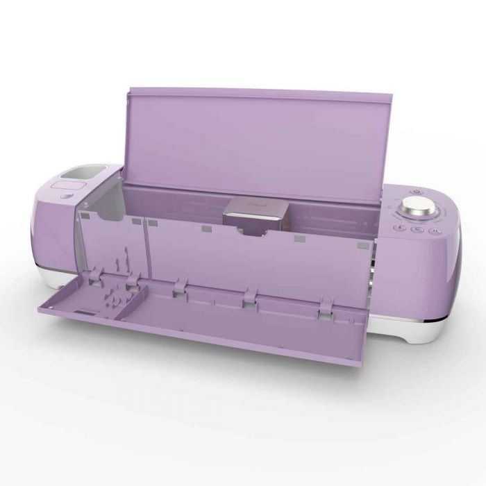 Cricut Explore Air 2 has 3 compartments, an open cup so that the user can just grab their commonly used tools and 2 hidden compartments. The smaller one are for pen blades with magnetic strips for holding blades. The longer one is for pens and tools.