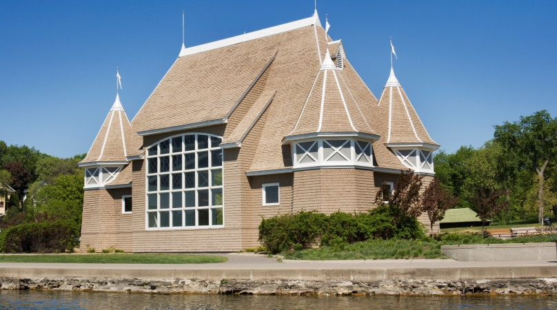 Lake Harriet Band Shell venue in Linden Hills, Minneapolis