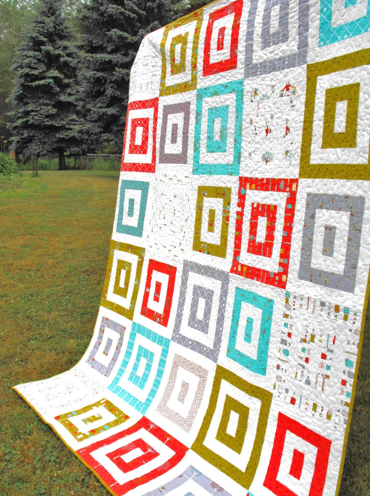Quilt Featuring Multiple Square Design