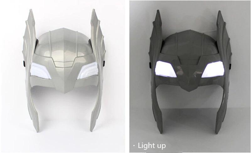 Child Cosplay The Avengers 2 Thor LED Light Luminous Sounding Helmet Hammer Gift
