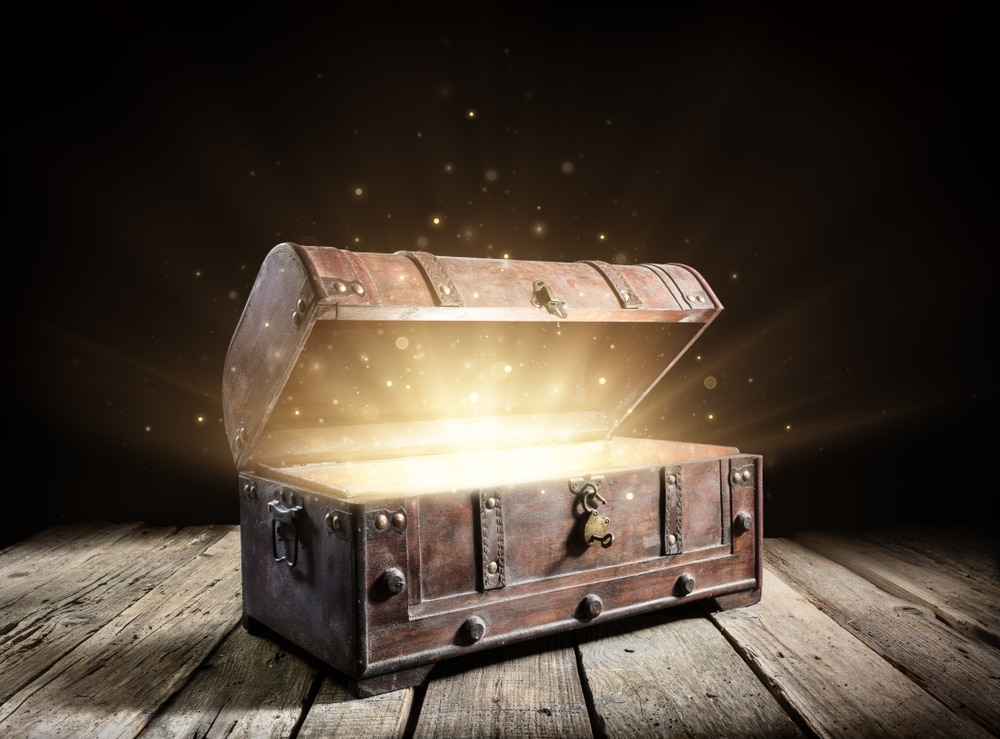 un coffre rempli d'or