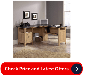 Sauder 412320 August Hill L-Shaped Desk