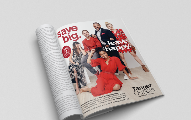 Tanger Outlets National Magazine Ad
