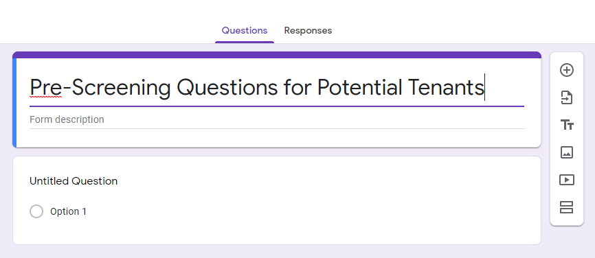 You can use Google Forms to help make your life easier!