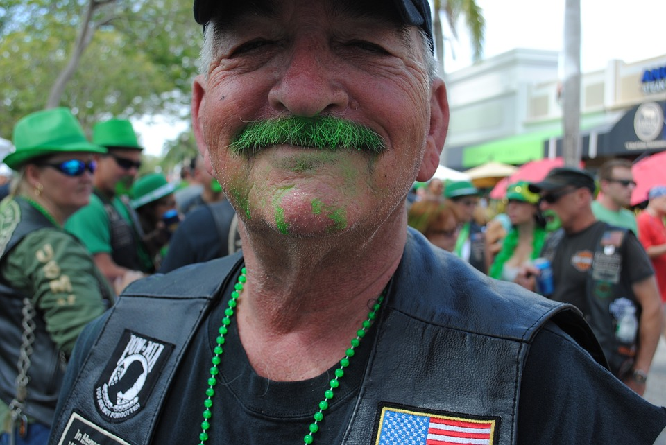 Eat traditional Irish Food and Lager St Patrick's Day parade