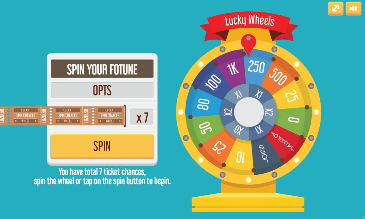 Lucky Wheel P2js Game Template