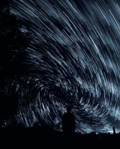 poesia cotidiana na foto de uma noite estrelada