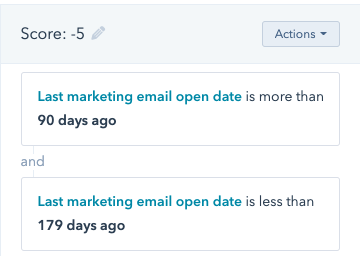 hubspot lead scoring email attributes