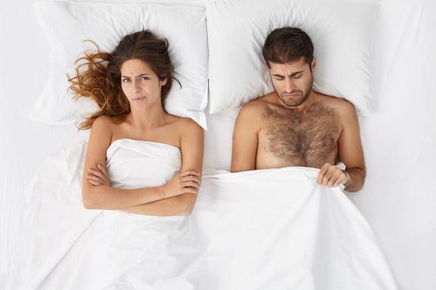 Attractive man feeling disappointed and depressed because of erectile dysfunction  Penis Smells