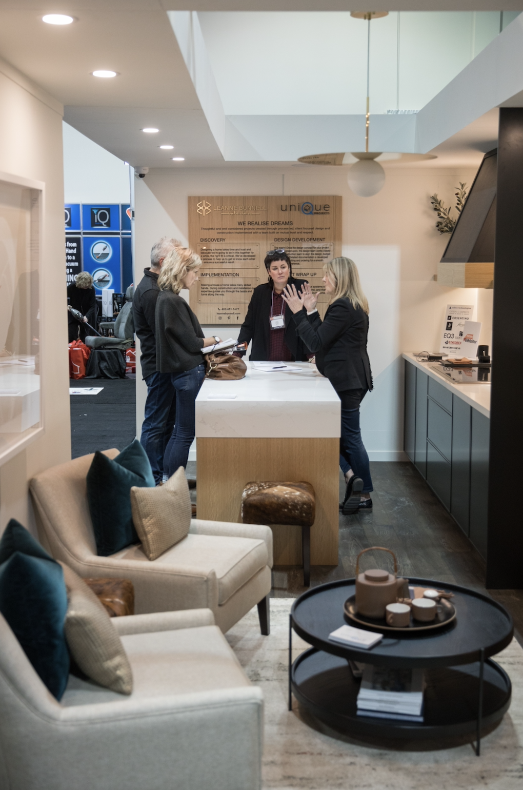 leanne bunnell interior design calgary the renovation show exhibit clean contemporary timeless classic