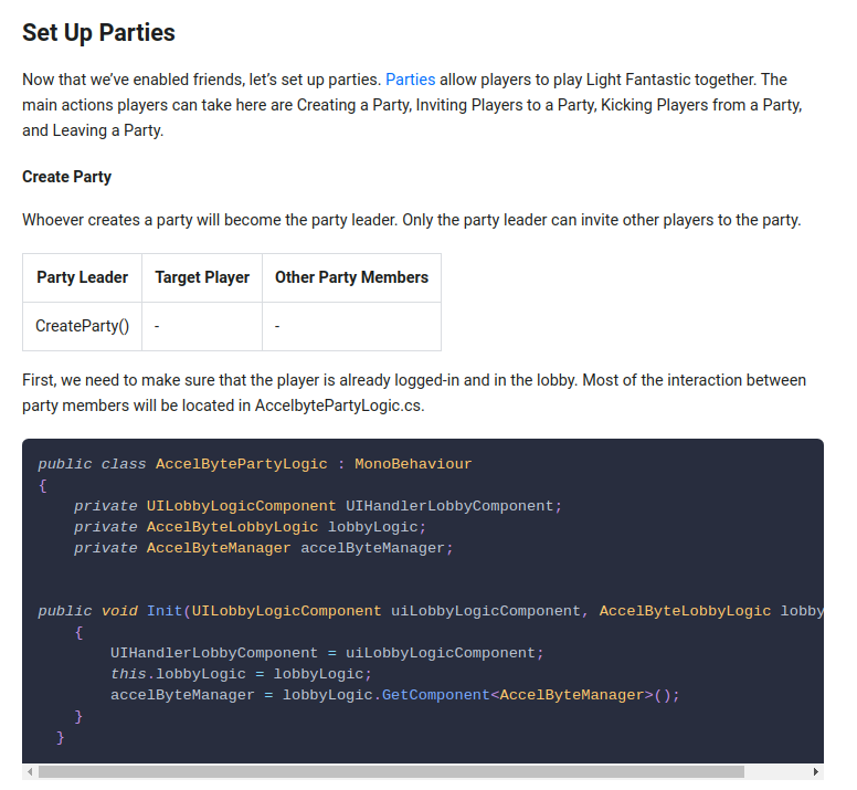 Adding/Integrating Game Lobby Party System to a Game Created in Unity Game Engine