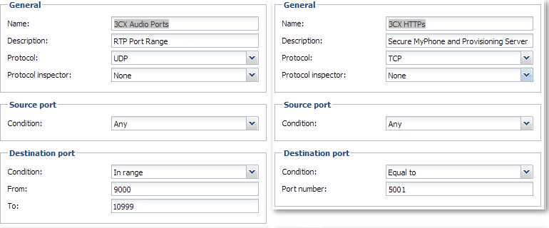 Guide on how to configure Kerio Control Appliance for 3CX