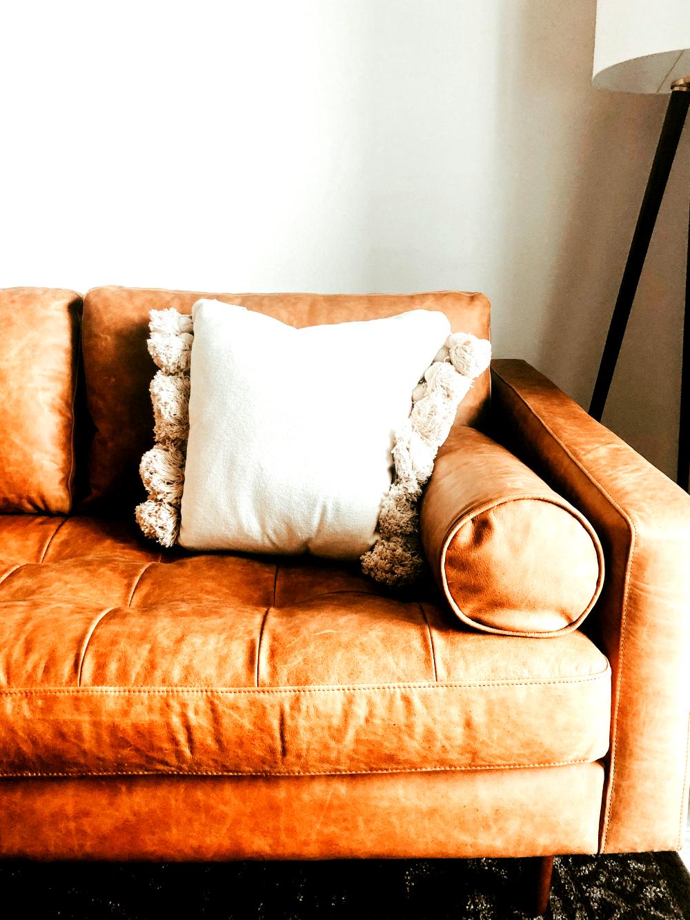 Orange couch from Unsplash