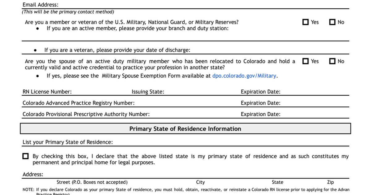 state board nursing application