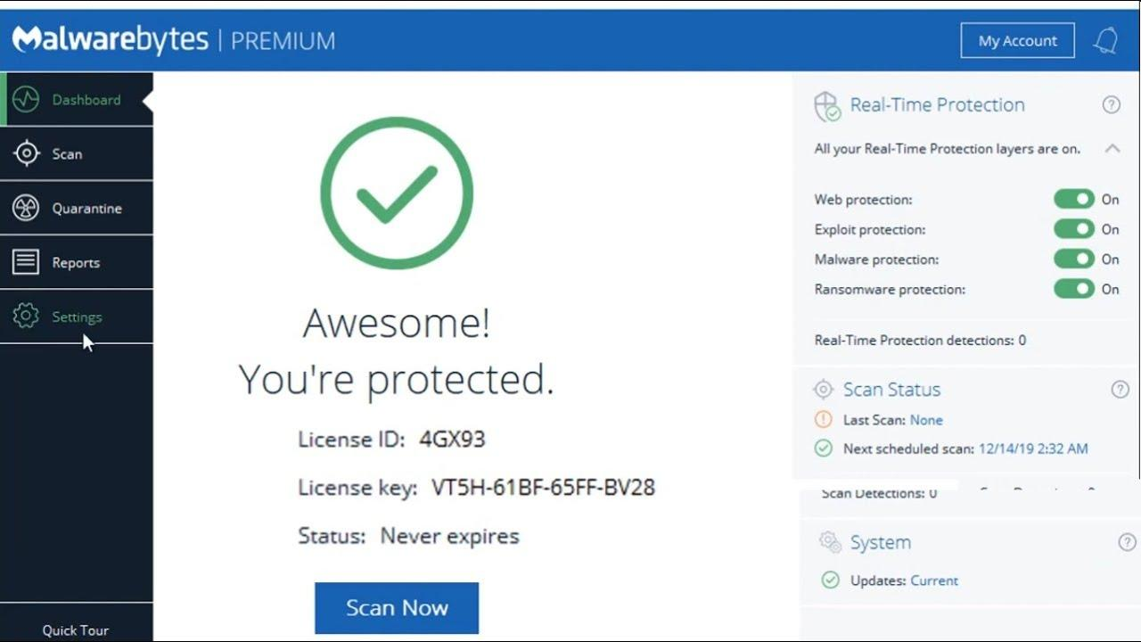 Malwarebytes Premium Full 2020 Free Activation - YouTube