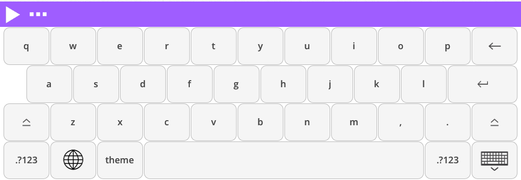 Read&Write for iPad keyboard