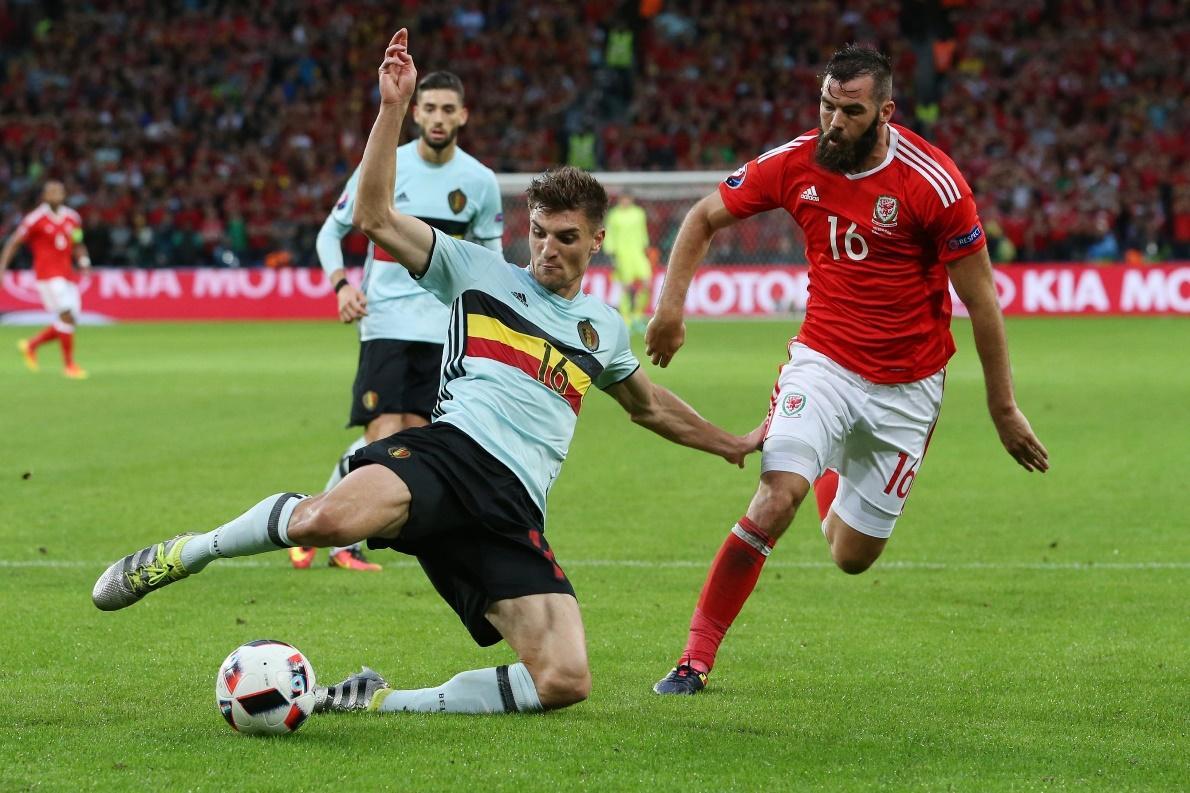 Bỉ từng thua Wales 1-3 ở Euro 2016