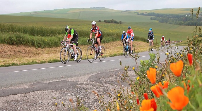 Cycling in a sportive event