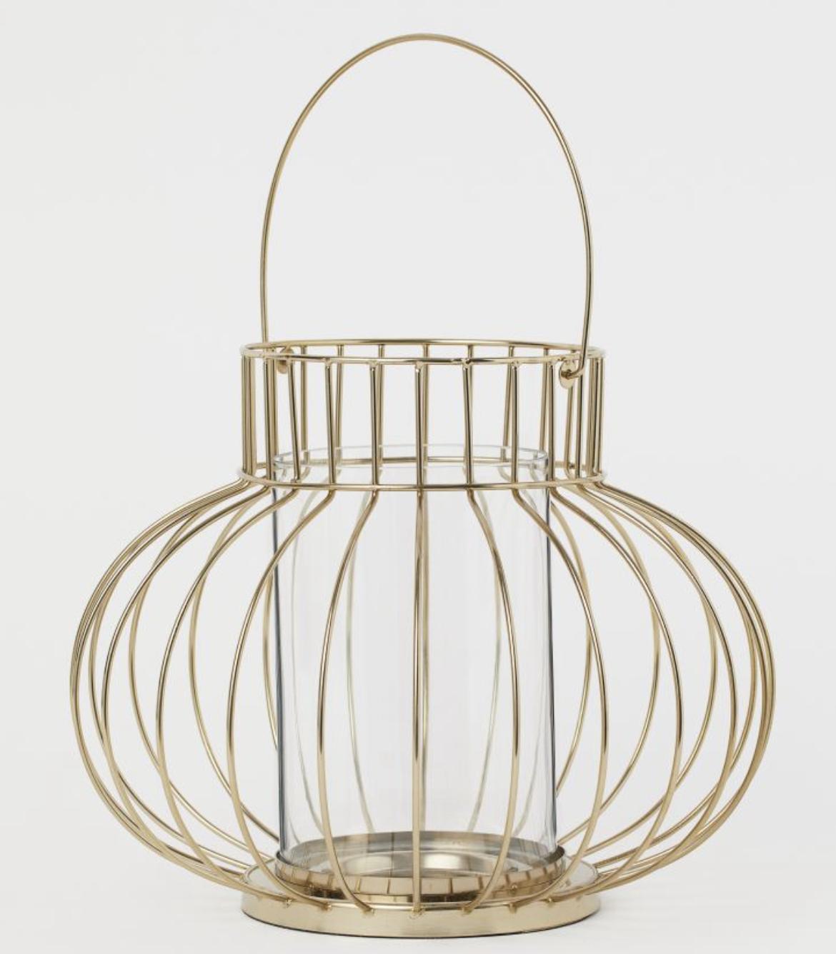 large metal candle lantern wedding table centerpiece