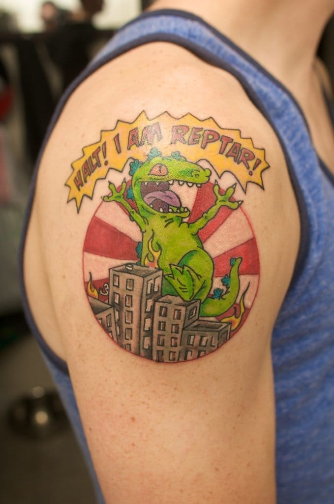 90 39 s cartoon tattoos for Cartoon baby tattoos