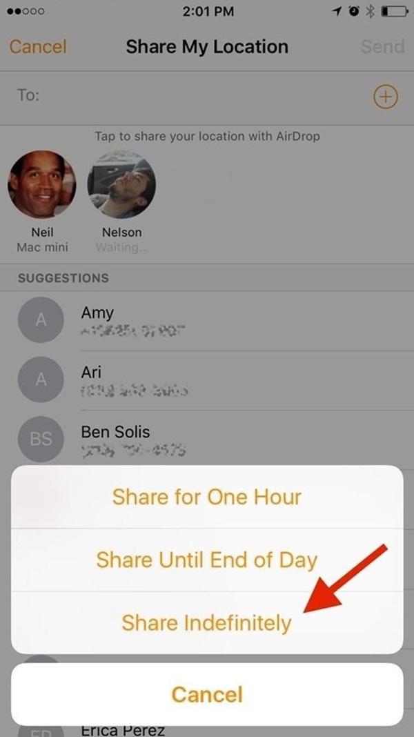hướng dẫn cách sử dụng định vị iPhone