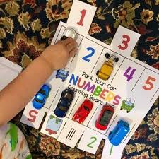 Use this Parking Lot Game for number practice in preschool, pre-k, and  kindergarten! Your students will be engaged as they mat… in 2020 | Ten  games, Ten frames, Game pieces