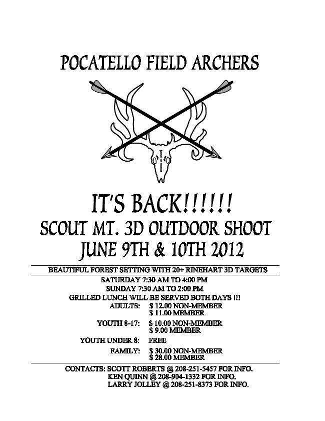 3D Archery Shoot in Pocatello