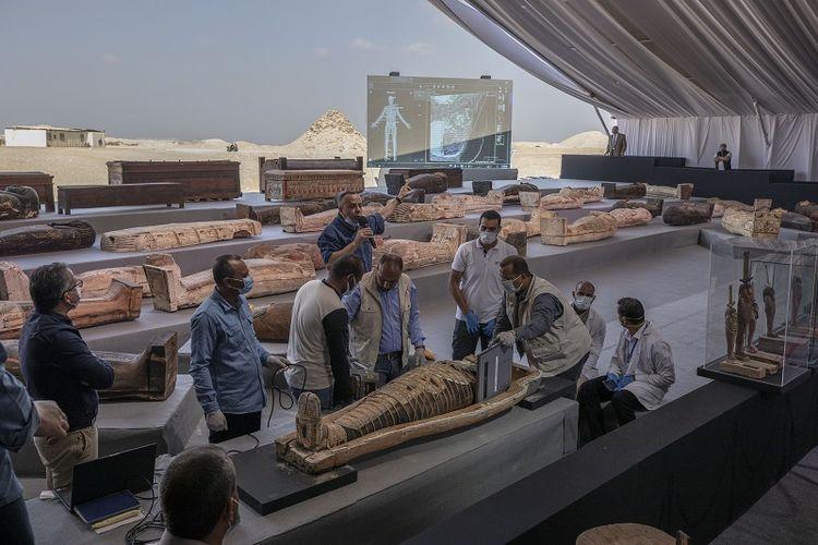 Pameran 100 Peti Mati Kuno di Mesir yang Berusia 2.500 Tahun