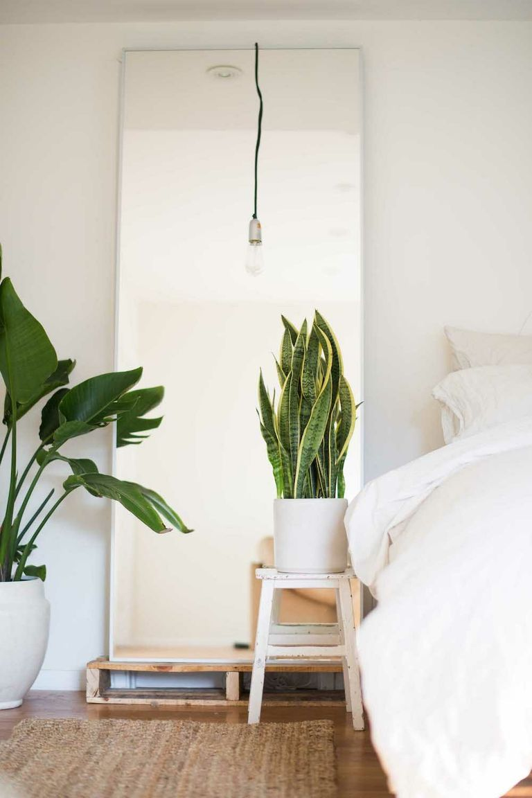 Inspirasi kamar tidur minimalis dengan dekorasi tanaman hias - source: apartmenttherapy.com