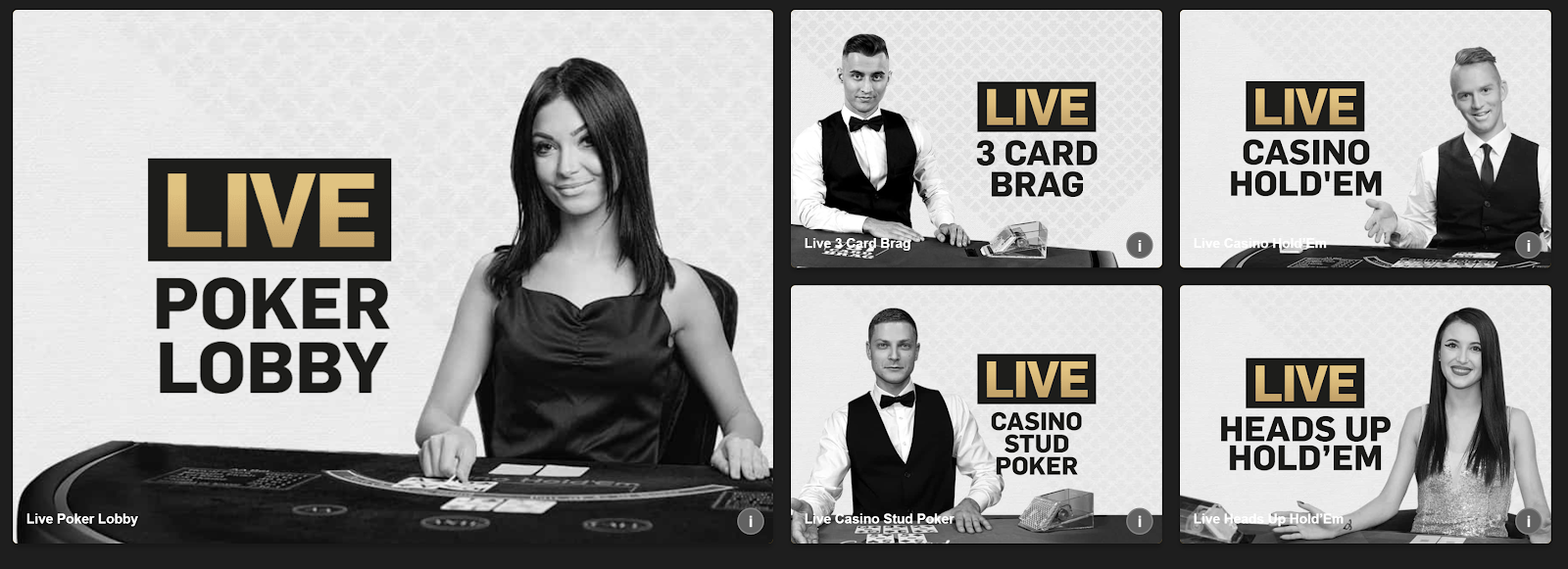 Betfair is an excellent site for live poker games