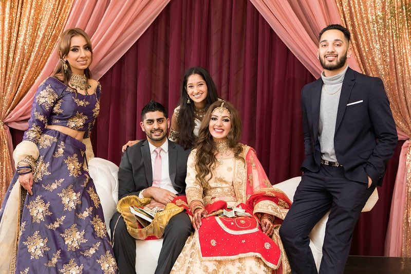 sikh wedding with family photography session