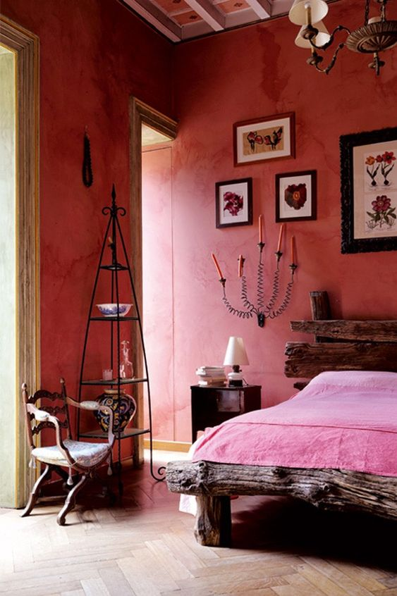 Gothic Bedroom Theme Combined with Rustic Elements