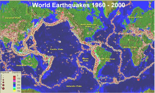 Global Pattern of Earthquakes