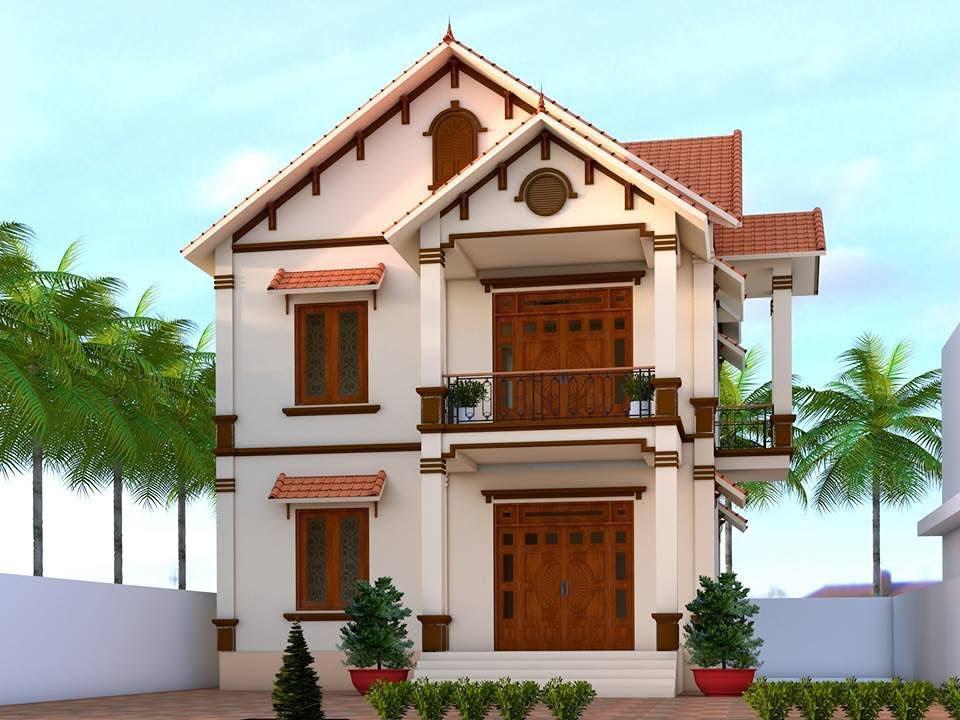 Thiết kế nhà 2 tầng mái thái phổ biến hiện nay