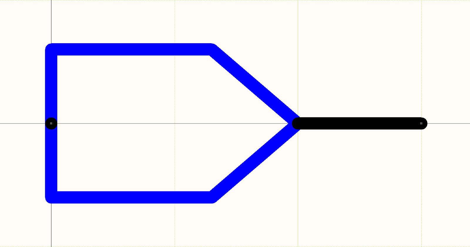 Figure 1. Modélisation de circuit imprimé : Symbole schématique d'une broche.