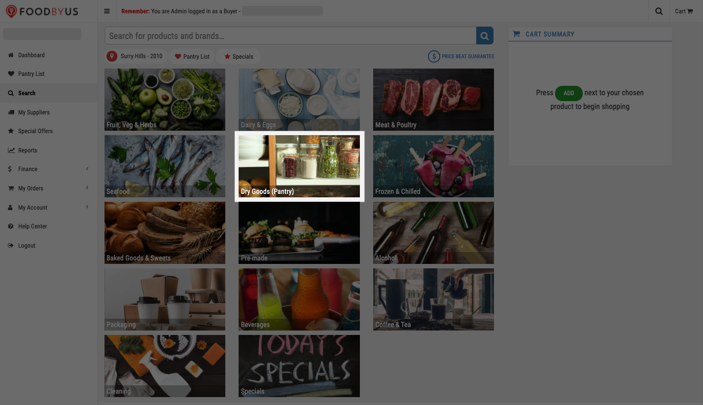 FoodByUs_dashboard_search_marketplace_choose_dry_goods