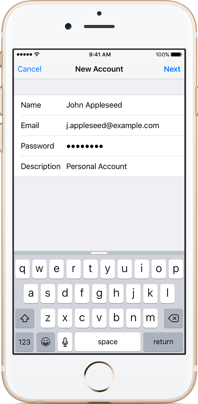 Add an email account to your iPhone, iPad, or