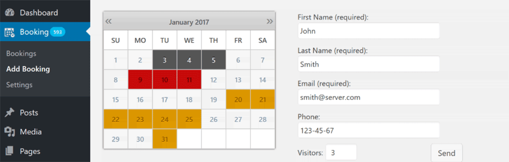 plugin booking calendar para agendamentos no wordpress
