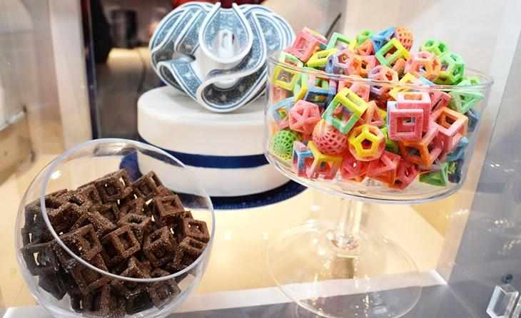 Confectionery is created using 3D printing technology.