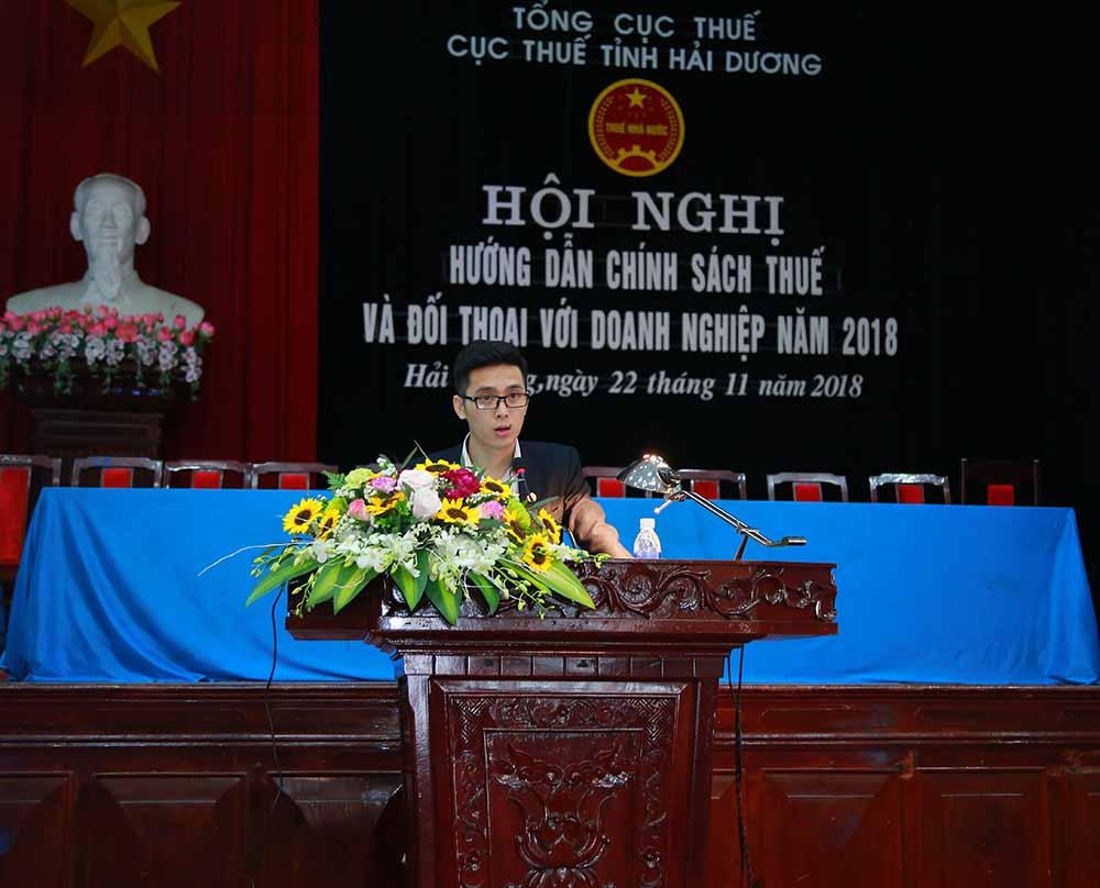 Ông Nguyễn Ánh Nhật - Trưởng ban PTKD đã giới thiệu phần mềm Hóa đơn điện tử MISA meInvoice